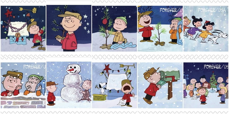 Peanuts Christmas Stamps 2015