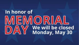 closed memorial day 2016